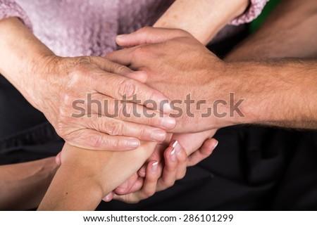 Nursing Home, Senior Adult, Human Hand. #286101299