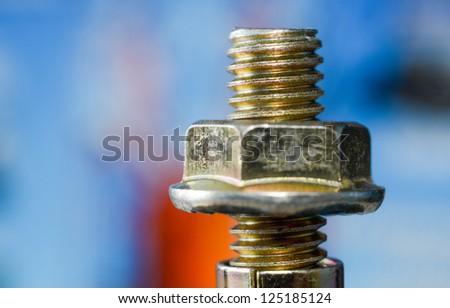 nut and bolt close up