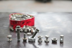 nut and bolt iron lids are arranged and used
