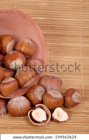 Nut mixture in a bowl