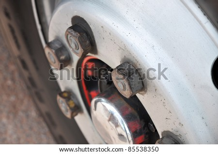 Nut Wheel Iron Metal Rubber