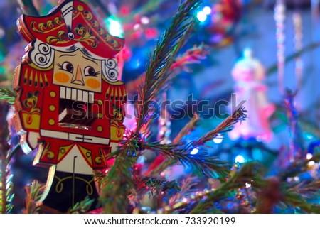 Nutcracker on the xmas tree #733920199