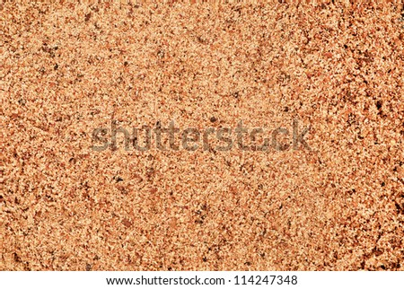 Nutmeg ground (Myristica fragrans) texture, full frame background. Used as a spice and medicine.
