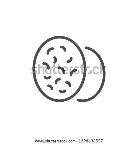 Nutmeg line icon isolated on white