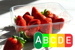 nutri score food labeling, fresh strawberries have nutriscore A