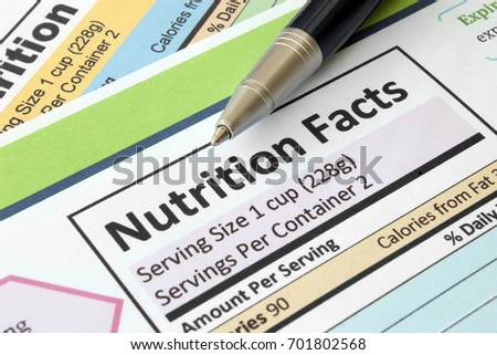 Nutrition facts #701802568