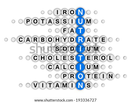 nutrition facts concept crossword puzzle