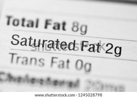 Nutrition Facts. Saturated Fat #1245028798