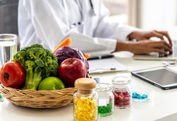 Nutrition from natural fresh fruits,vegetables and multivitamins for healthy lifestyles