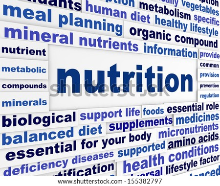 nutrition healthy life style concept health care creative words