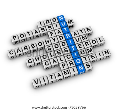 Nutrition Ingredient (cubes crossword)