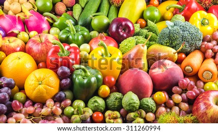 Nutritious fruit and vegetables organic for healthy - Shutterstock ID 311260994