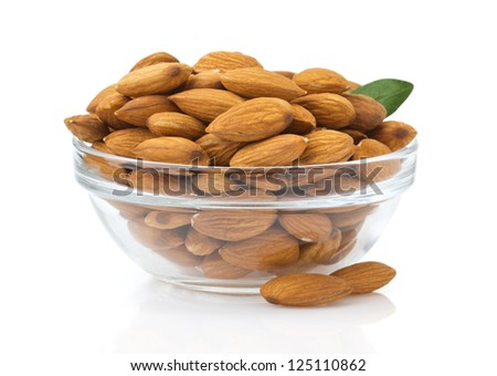nuts almond isolated on white background