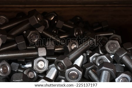nuts and bolts in case box