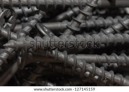 nuts and screws. macro #127145159