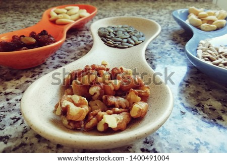 Nuts and seeds modern composition of raw food