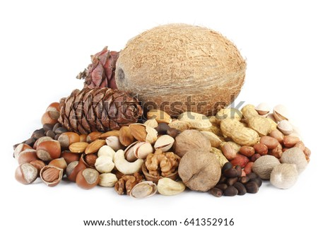 nuts isolated #641352916