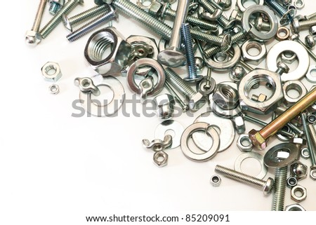 nuts, washers, bolts of various sizes and shapes