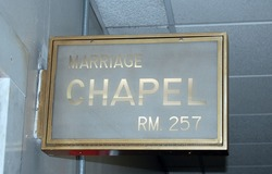 NYC City Hall marriage chapel  sign