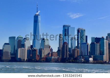 NYC Downtown Skyline                                #1353265541