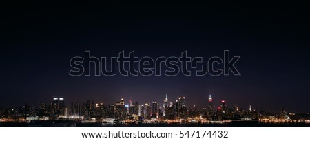 NYC panorama by night