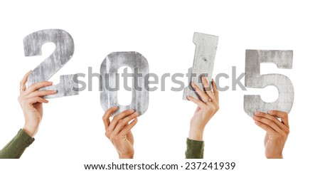 stock photo : hands with 2015