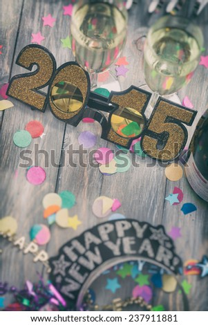 stock photo: new year 2015 background