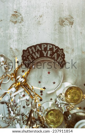 stock photo: new year background