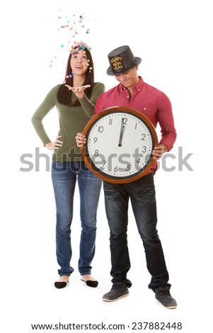 stock photo: couple celebrates new year's