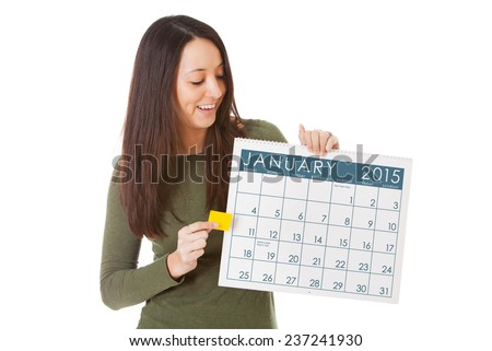 stock photo: calendar january 2015