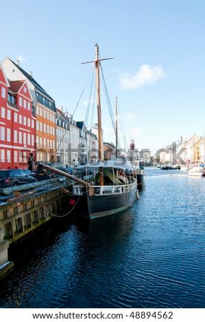 Nyhavn channel in Copenhagen, Denmark