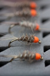Nymph pattern. Flies for fly fishing in greenland