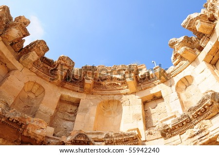 Nymphaeum in the ancient city Jerash in Jordan