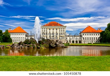 Nymphenburg castle front view in a Summer day - stock photo