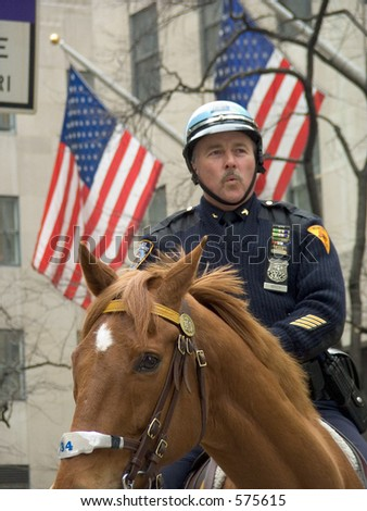 NYPD officer on horseback