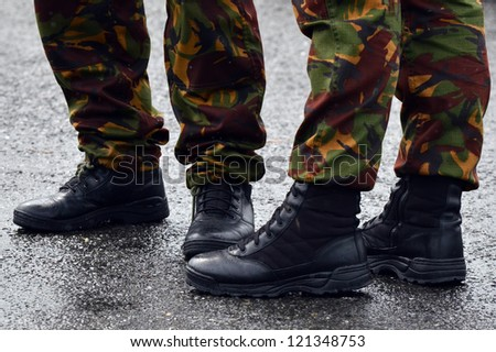 NZ Army combat uniform on a soldiers.