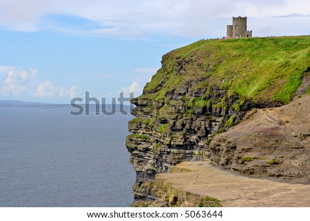 O'Briens Tower on top of The Cliffs of Moher in County Clare, Ireland