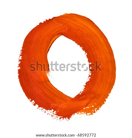 O - Color letters isolated over the white background