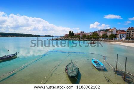 O Grove Peralto beach in Pontevedra Galicia Spain Stok fotoğraf ©