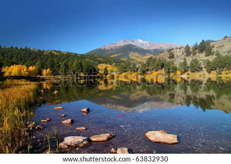 O'Haver lake in middle of Rocky mountains in Colorado