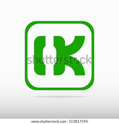 O.K. Abstract positive  sign. O.K. icon  illustration. OK logo.