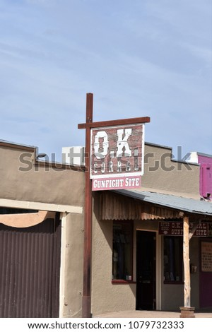 o.k. corral sign in tombstone...