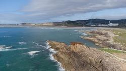 O Vixiador, an iron sculpture on the cliffs of the Arteixo coa