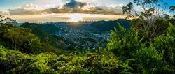 Oahu, Hawaii Sunset Hike at Wa'ahila Ridge
