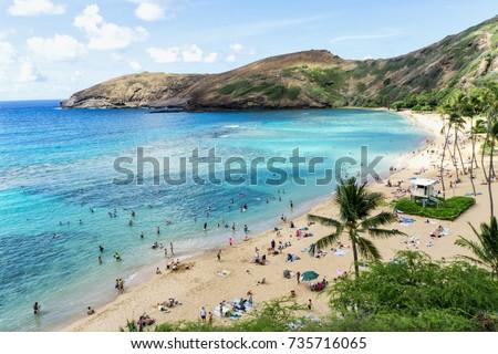 Oahu's Most Famous Beach, Hanauma Bay, Oahu Hawaii