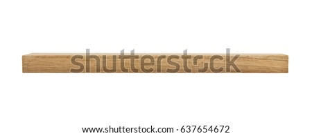 oak wooden beam isolated on white background