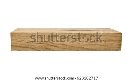 oak wooden board isolated on white background closeup Stock foto ©