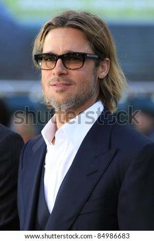 OAKLAND, CA - SEP 19: Brad Pitt at the world premiere of Columbia Pictures' 'Moneyball' at the Paramount Theater of the Arts on September 19, 2011 in Oakland, California
