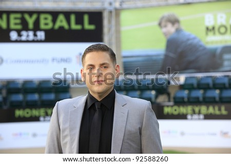 OAKLAND, CA - SEP 19: Jonah Hill at the world premiere of Columbia Pictures' 'Moneyball' at the Paramount Theater of the Arts on September 19, 2011 in Oakland, California