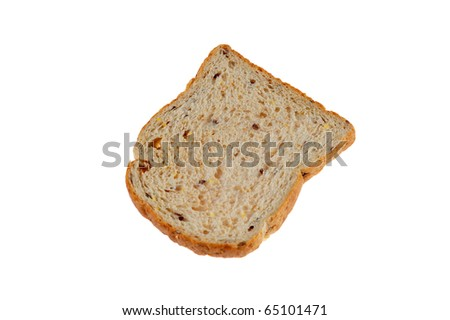 oat bread on white background - stock photo